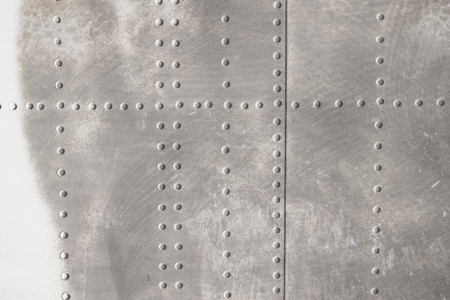 aluminum airplane: riveted metal from aircraft
