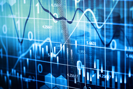 Stock market graph background