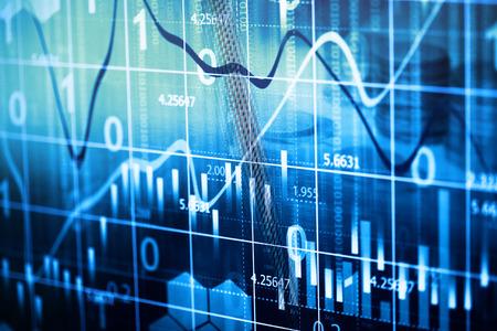 Stock market graph background
