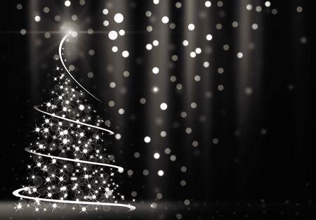 Abstracto árbol de Navidad  Foto de archivo - 53909072