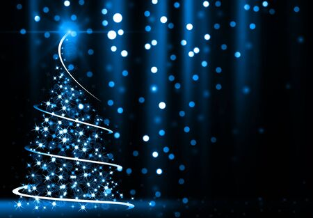 abstract tree: Abstract Christmas Tree Stock Photo