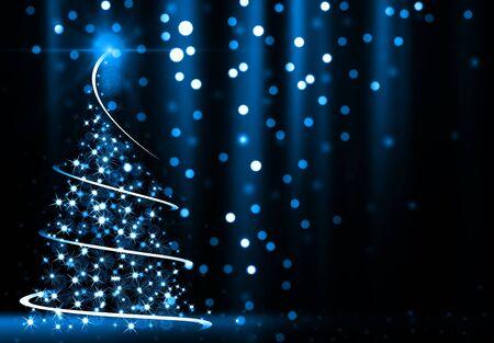 Abstracto árbol de Navidad  Foto de archivo - 53909074