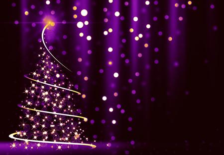 Abstracto árbol de Navidad  Foto de archivo - 53909075