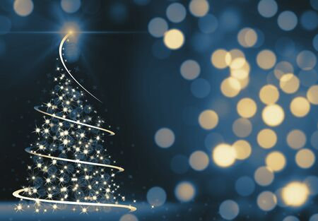 Abstract Christmas Tree Stockfoto