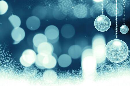 festive: Festive dark blue Christmas background with stars Stock Photo