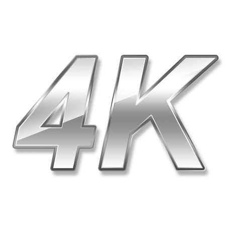 high definition television: 4K ultra high definition television technology logo