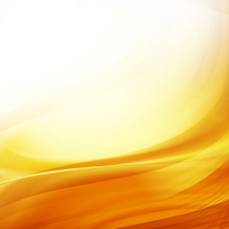Fond orange et jaune de courbes chaudes abstraites