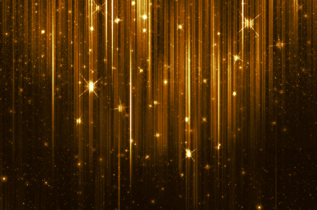 golden background with shiny lights Stock Photo