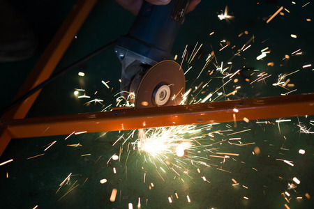 cutting metal: cutting metal