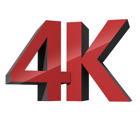 definition high: 4K ultra high definition television technology logo