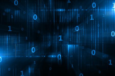 red informatica: código binario Foto de archivo
