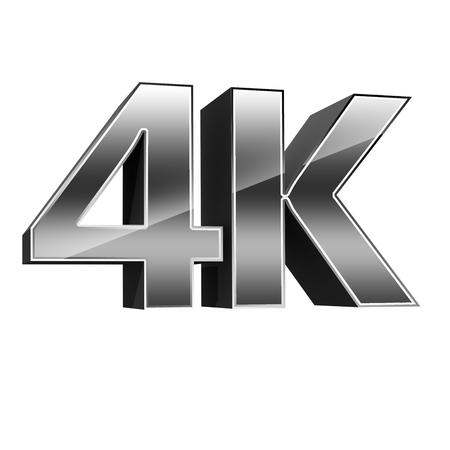 definicion: 4K logotipo de la tecnolog�a de la televisi�n de ultra alta definici�n