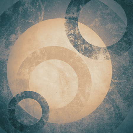 retro patterns: grunge background with circle
