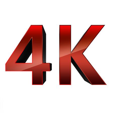definicion: 4K tecnología de la televisión de ultra alta definición Foto de archivo