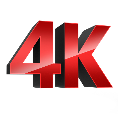 high definition television: 4K ultra high definition television technology red logo