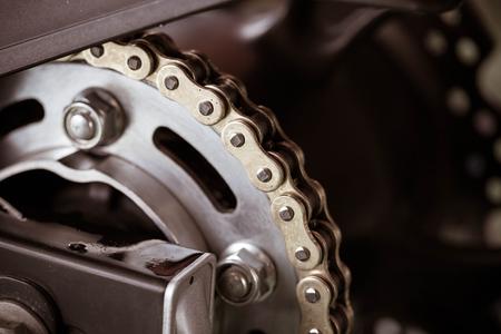 Motorrad-Kette Standard-Bild