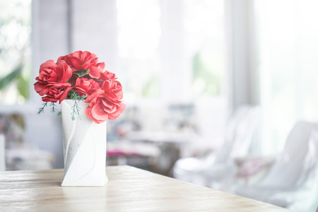 decorative flowers on the table