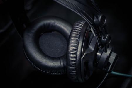 earpiece: Earphone Headphone for listening to music Stock Photo