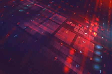 Digital fondo abstracto de la tecnología