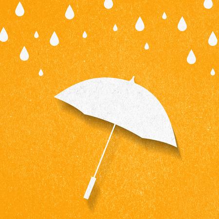 umbrella paper cut style