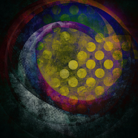 grunge background, abstract circles pattern