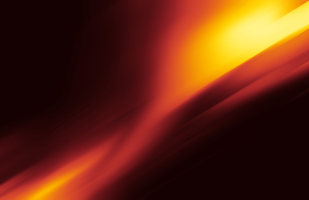 Red and yellow background of abstract warm curves