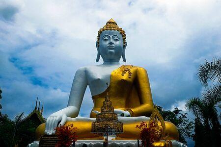 Buddha Statue at Doi Kum temple at Chiang mai Thailand