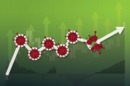 Stock markets rebound from COVID-19 virus be defeated, world investment price rise up or recovered since pandemic of Coronavirus, stock market graph and chart equity price move up from permitted unlocking