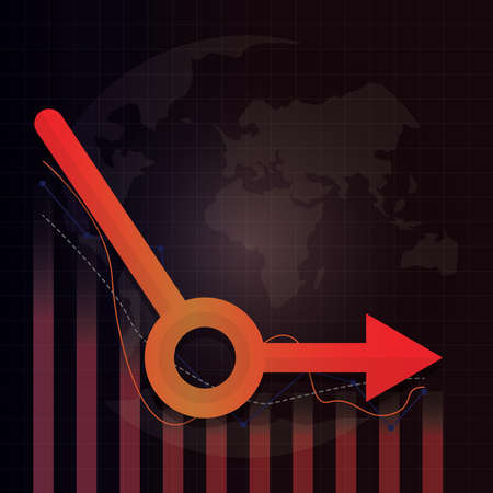 Economic recovery type after COVID-19 crisis. Post Coronavirus pandemic concept. Economy business investment not growing up. Design by bar chart, line chart and L-shape arrow. Vector illustration