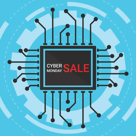 Cyber monday sale symbol or Cyber monday discount banner. Special offer sale tag discount, retail price sticker promotions sign. Design , emblem, brochure, card, ad or badge. Isolated vector illustration