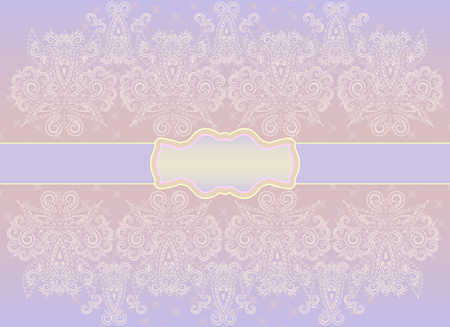 Wedding invitation card. Delicate pattern with ethnic elements. Vector background.