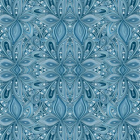 Seamless turquoise dotty pattern. Traditional ethnic ornament. Vector print. Use for wallpaper, pattern fills,textile design.