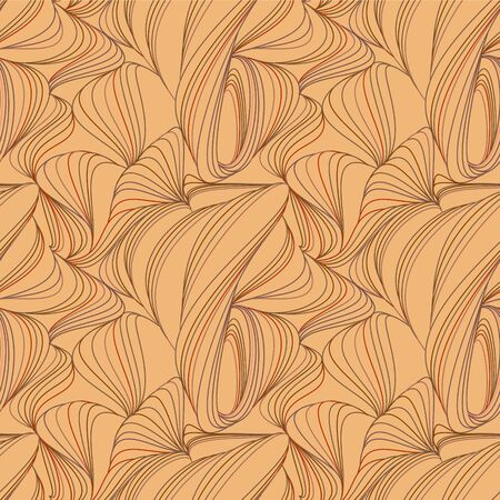 Seamless abstract amazing pattern of red and orange lines. Vector clipart for design.  イラスト・ベクター素材