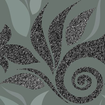 Seamless abstract background, grainy texture and asphalt color. Vector clipart.