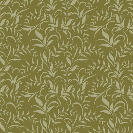 Seamless classical grassy pattern. Vector clipart for design.  イラスト・ベクター素材