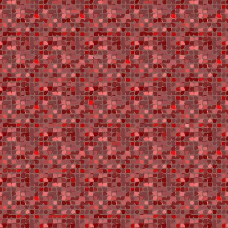 Bright seamless red mosaic pattern. Textile, web design. Abstract vector background.