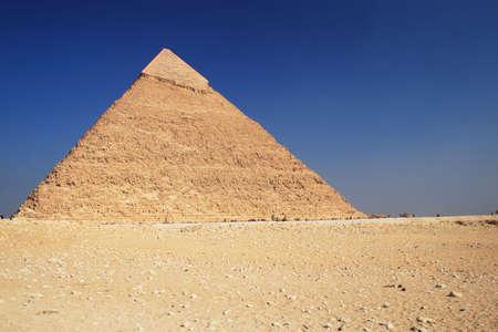 The great ancient Pyramid of Chephren in Giza, near Cairo (Egypt) photo