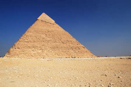 The great ancient Pyramid of Chephren in Giza, near Cairo (Egypt) Stock Photo - 1208698