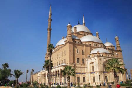 the citadel: La Moschea di Muhammad Ali nella cittadella di Saladino Old Cairo, in Egitto,  Archivio Fotografico