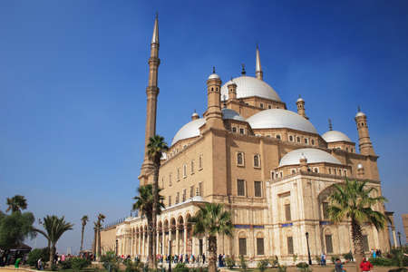 prayer tower: The Mosque of Muhammad Ali in the Citadel of Saladin in Old Cairo, Egypt