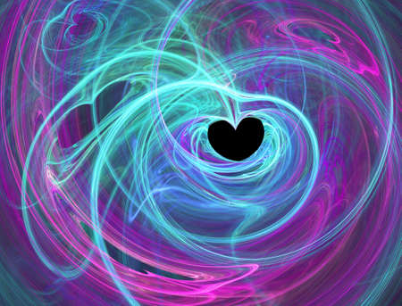 deep pink: Computer generated abstract heart background Stock Photo