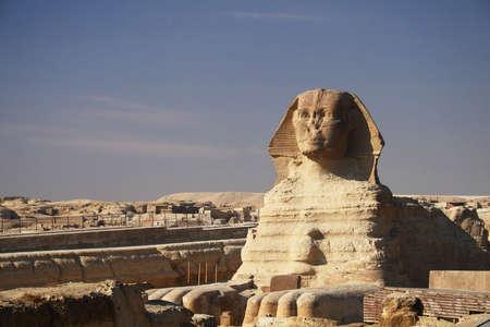 sfinx: De grote Egyptische Sfinx van Gizeh, Egypte