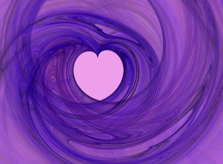 Purple heart fractal (computer generated shape) photo