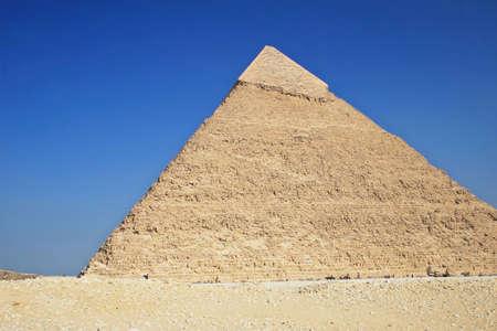 mummification: The great ancient Pyramid of Chephren in Giza, near Cairo (Egypt)