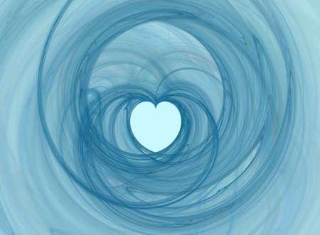 Valentine abstract swirly heart shape photo