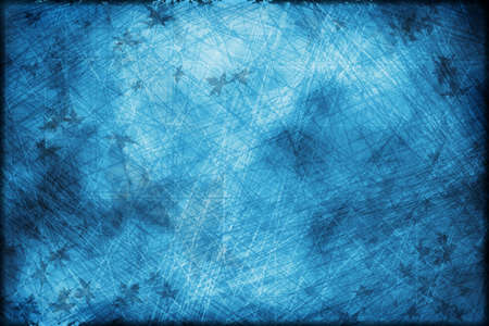 Scratched grunge blue background, abstract texture Stock Photo