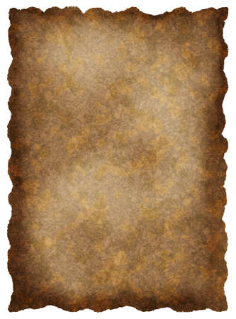 burnt: Old textured paper with tattered edges - retro vintage background