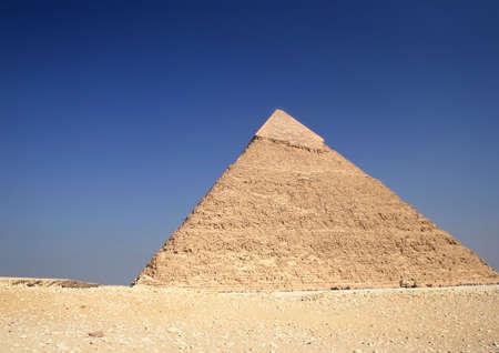 chephren: The great ancient Pyramid of Chephren in Giza, near Cairo (Egypt)