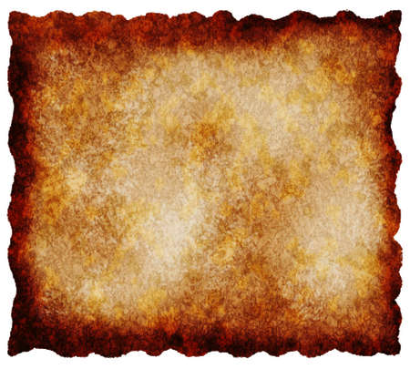 Old textured paper - retro vintage background, burnt tattered edges  photo