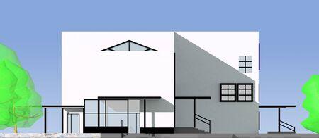 o projeto de um edifício moderno